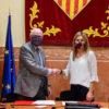 Ramon Talamàs, president de la Cambra de Terrassa; i Ana Maria Martínez, alcaldessa de Rubí